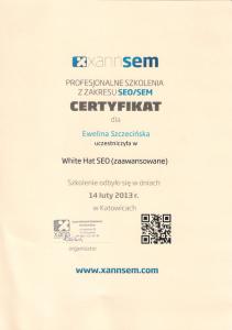 Certyfikat SEO