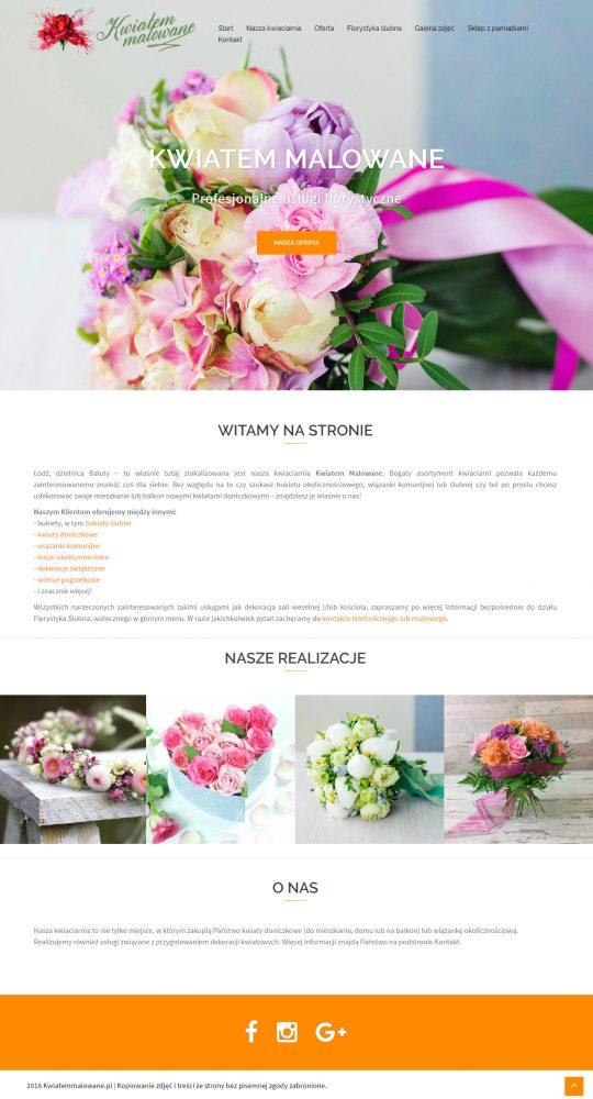 Projekt strony Kwiatem Malowane