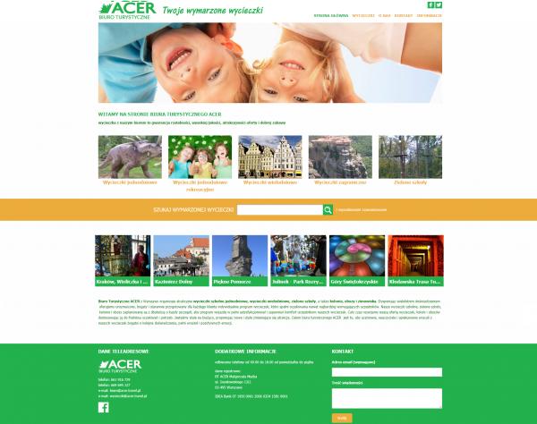 Projekt strony ACER