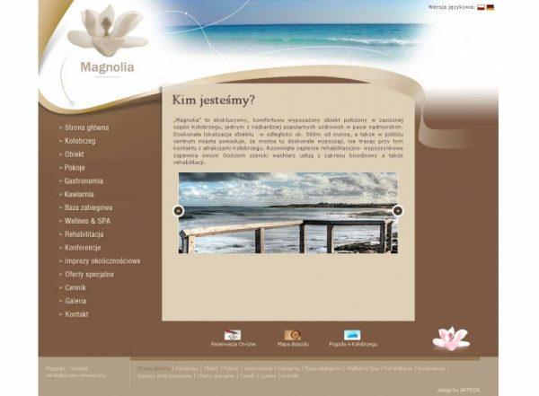 Projekt strony Magnolia